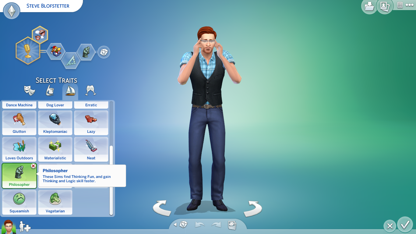Screenshot of Philosopher Trait in CAS